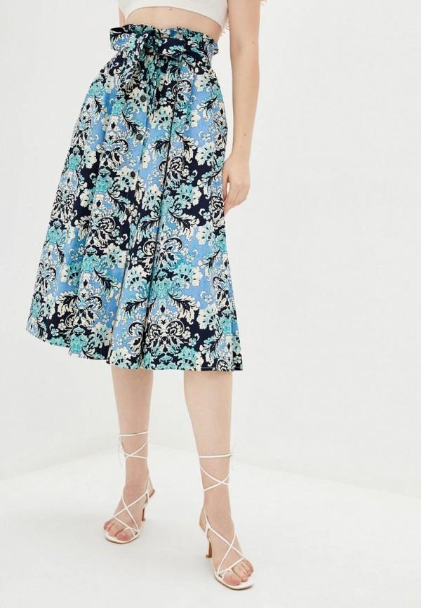 женская юбка ora, голубая