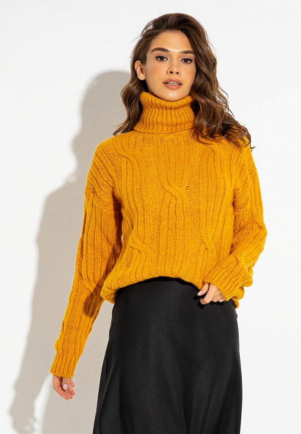 женский свитер itelle, желтый
