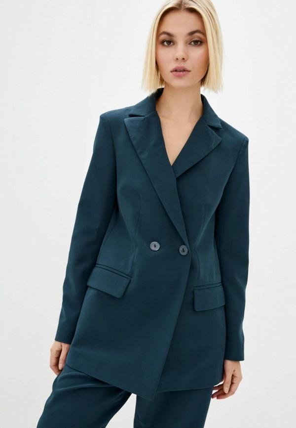 женский пиджак sfn, бирюзовый