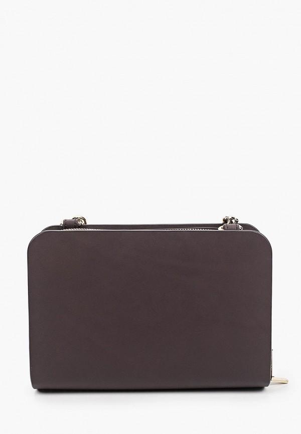 женская сумка через плечо ecco, коричневая