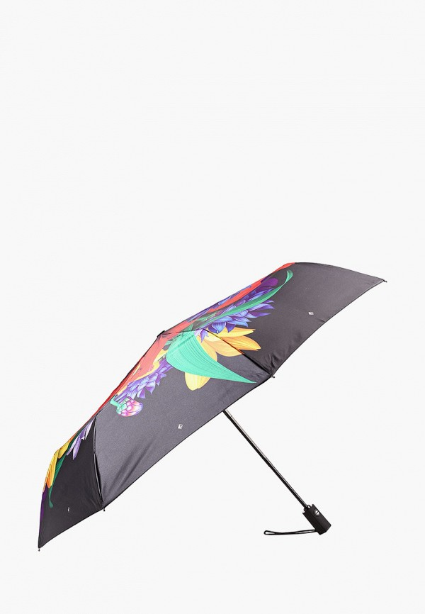 женский складные зонт flioraj, черный