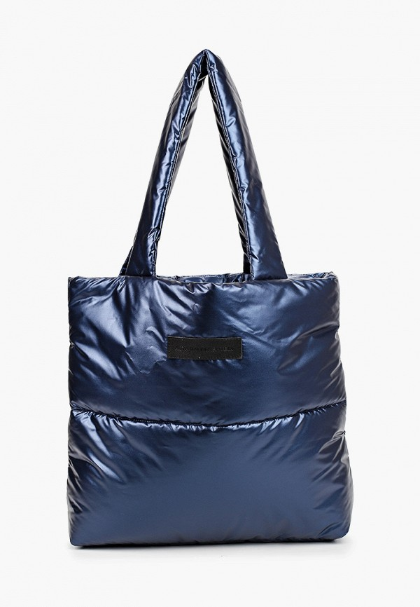 женская сумка-шоперы asya malbershtein, синяя