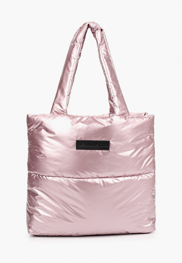 женская сумка-шоперы asya malbershtein, розовая