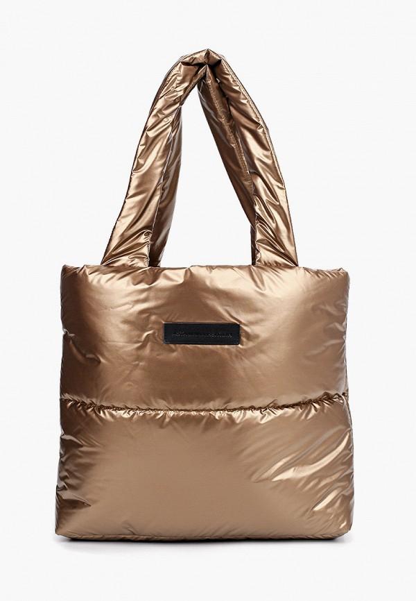 женская сумка с ручками asya malbershtein, золотая