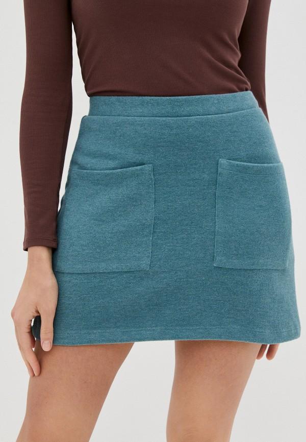 женская прямые юбка mark formelle, бирюзовая