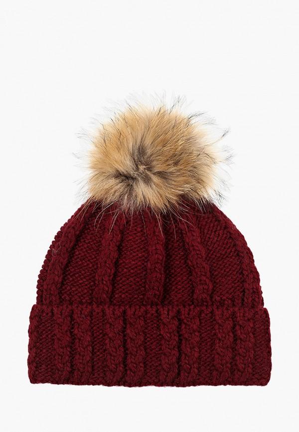женская шапка kellis, бордовая