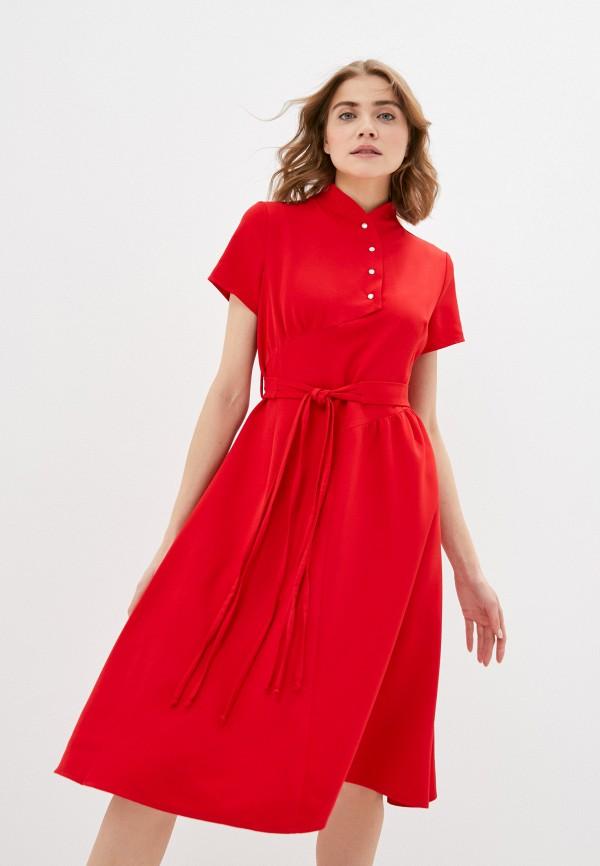 женское повседневные платье adzhedo, красное
