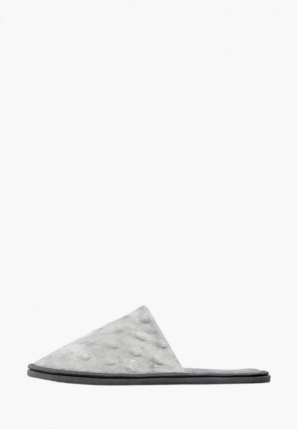 женские тапочки amaro home, серые