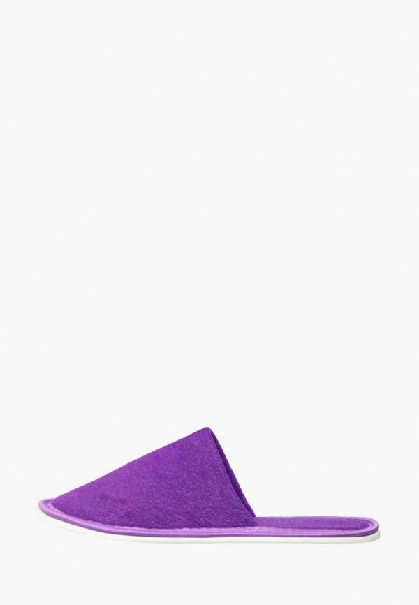 женские тапочки amaro home, фиолетовые