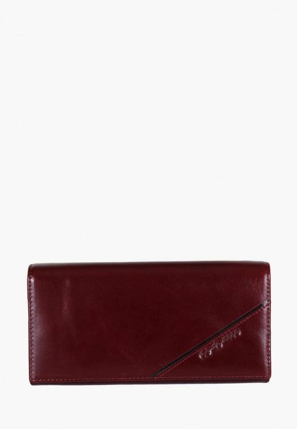 женский кошелёк de esse, бордовый