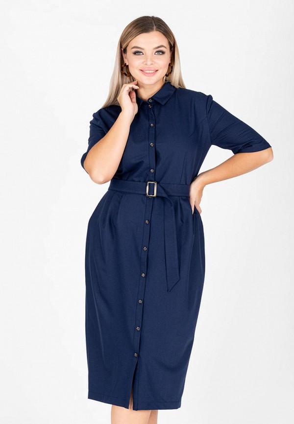 женское платье-рубашки eliseeva olesya, синее