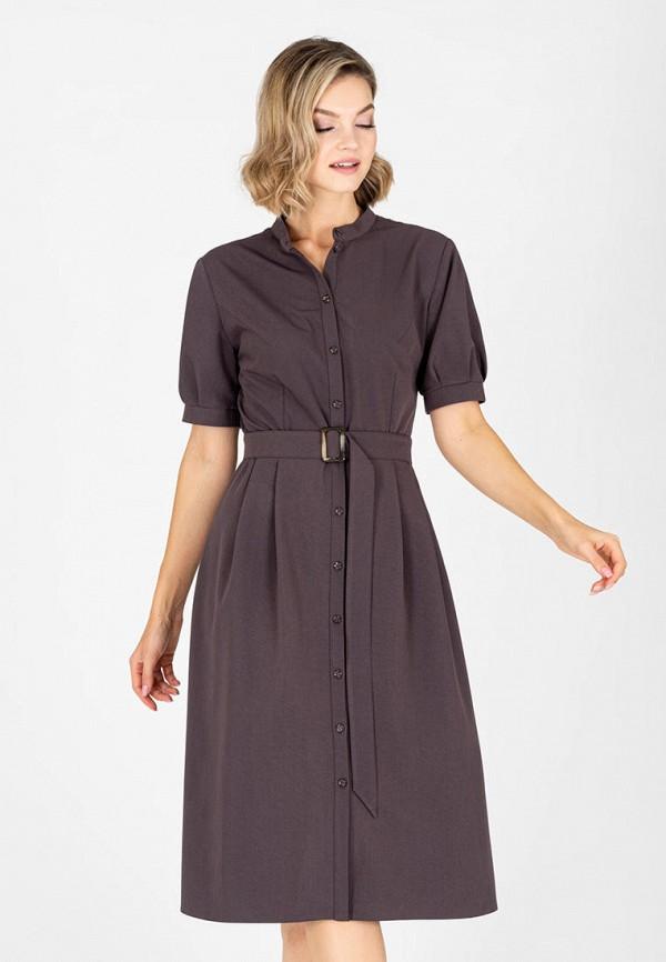 женское платье-рубашки eliseeva olesya, коричневое