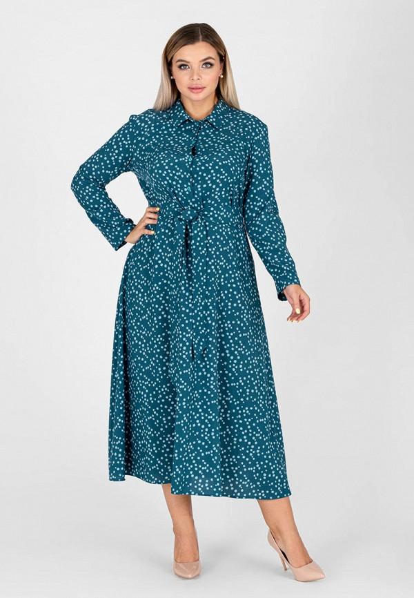 женское платье-рубашки eliseeva olesya, бирюзовое
