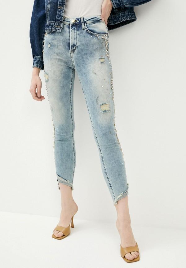 женские джинсы скинни dshe, голубые
