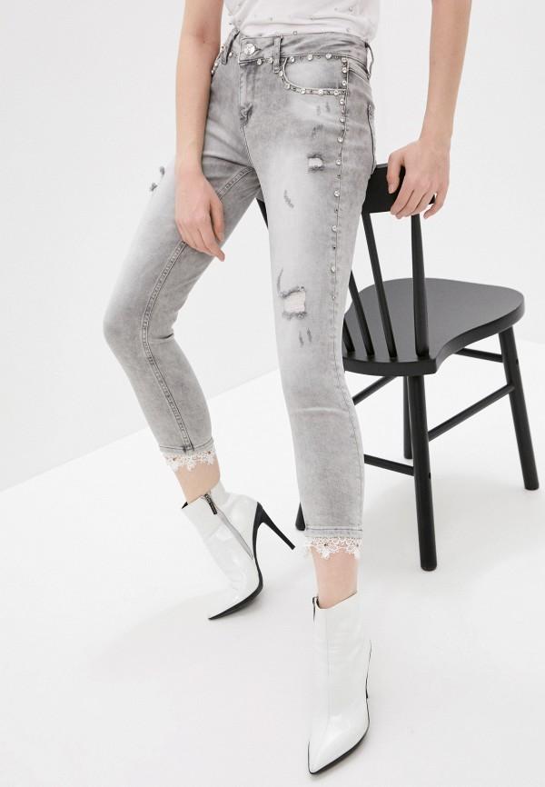 женские джинсы скинни dshe, серые