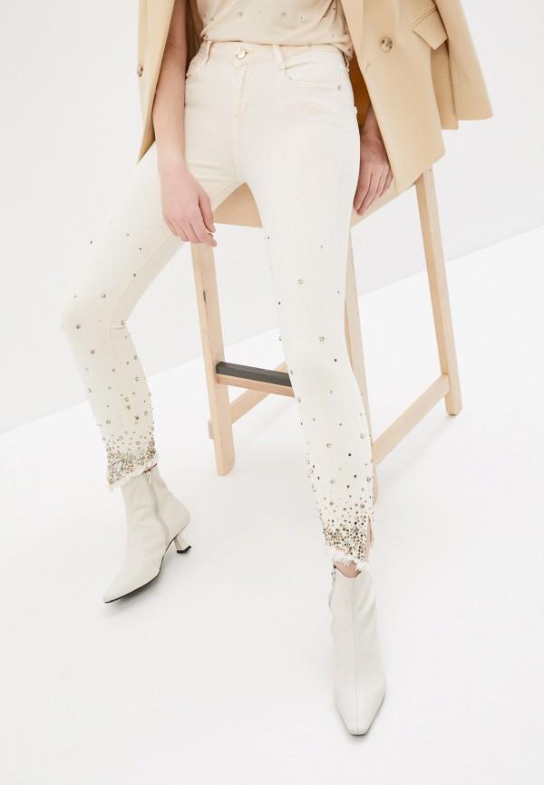 женские джинсы скинни dshe, бежевые