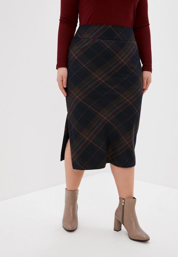 женская прямые юбка olbe, синяя