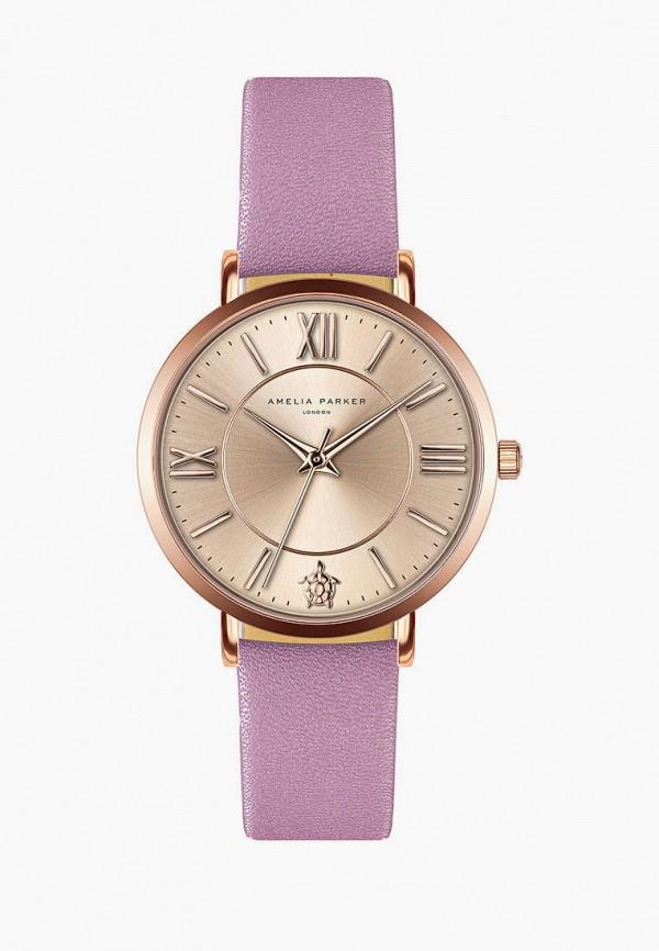 женские часы amelia parker, розовые