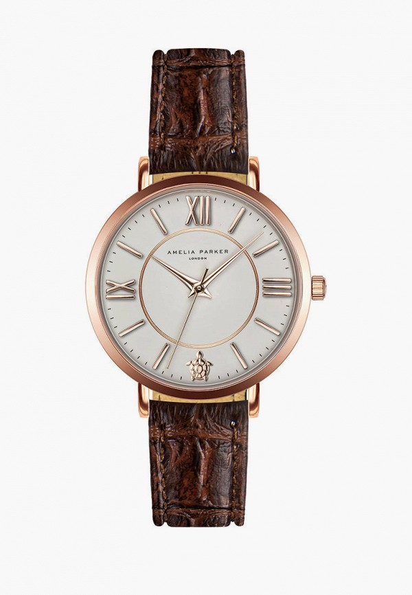 женские часы amelia parker, коричневые