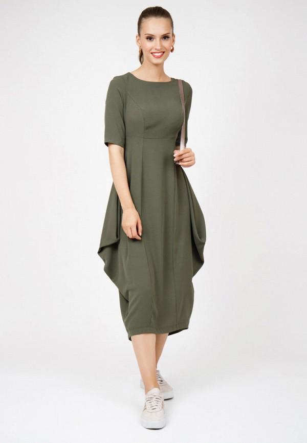 женское повседневные платье grey cat, хаки