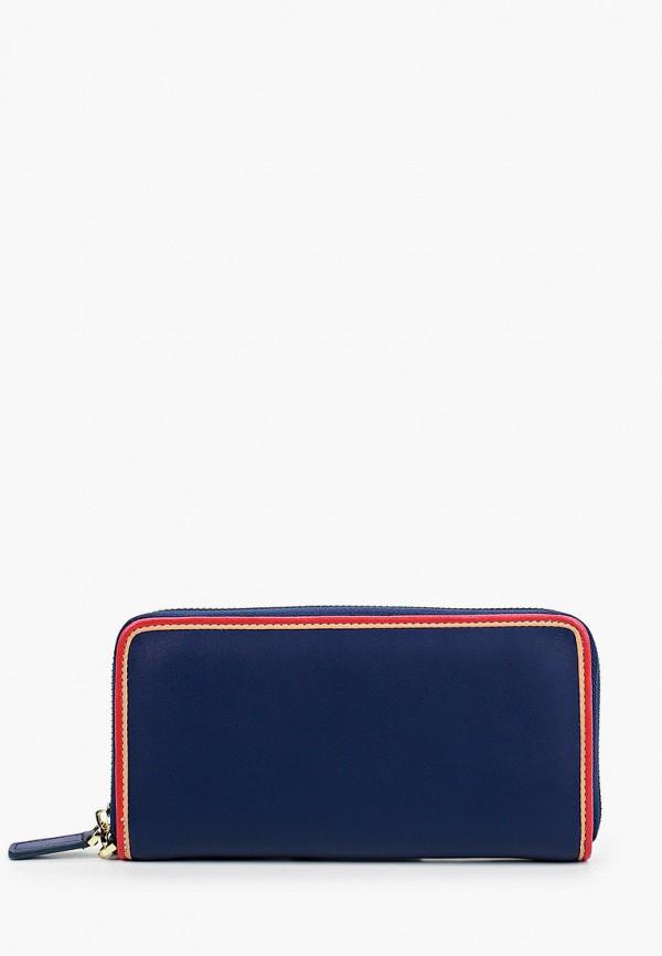 женский кошелёк russian look, синий