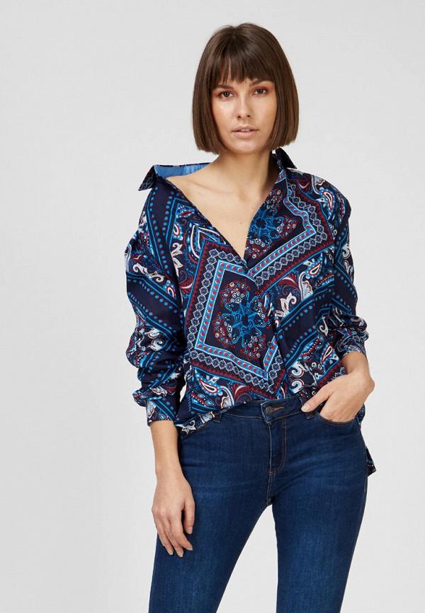женская блузка esprit, синяя