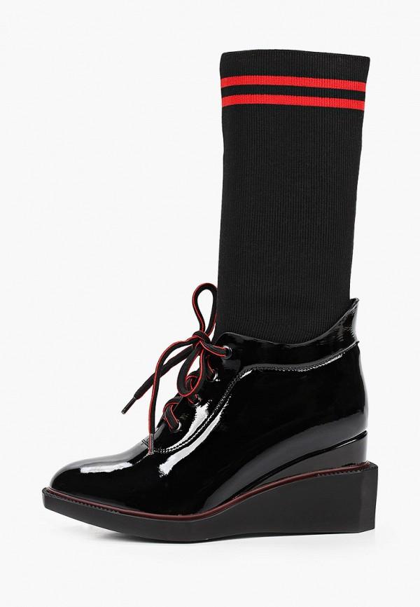 женские высокие ботинки dino ricci, черные