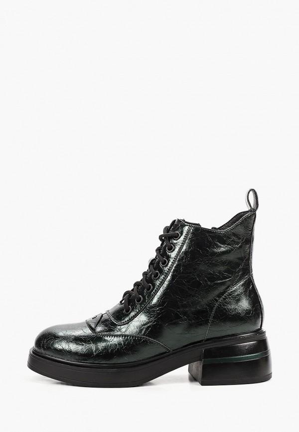 женские высокие ботинки dino ricci, зеленые