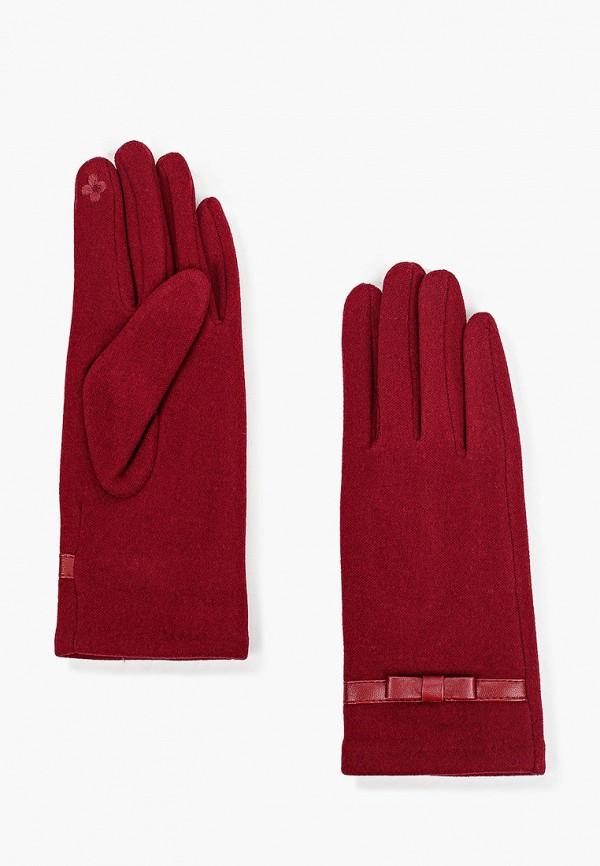 женские кожаные перчатки mon mua, красные