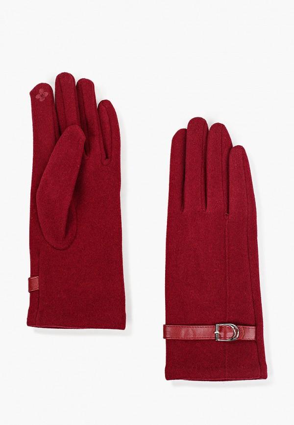 женские текстильные перчатки mon mua, бордовые
