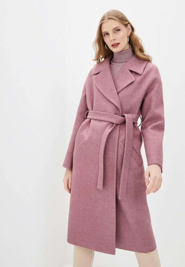женское пальто ovelli, розовое