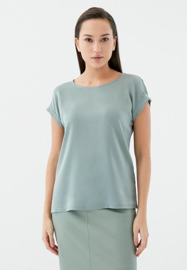 женская футболка zarina, зеленая