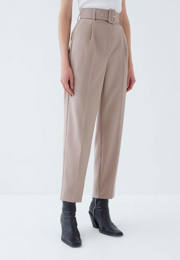 женские классические брюки zarina, бежевые