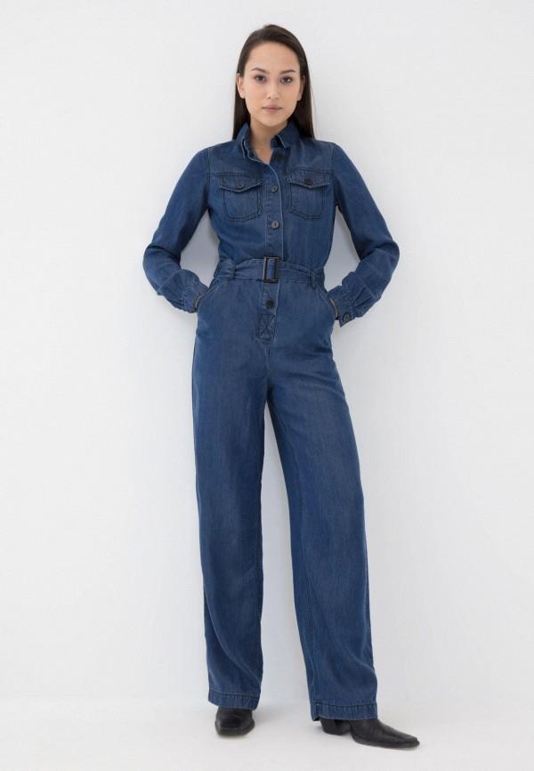 женский комбинезон с брюками zarina, синий