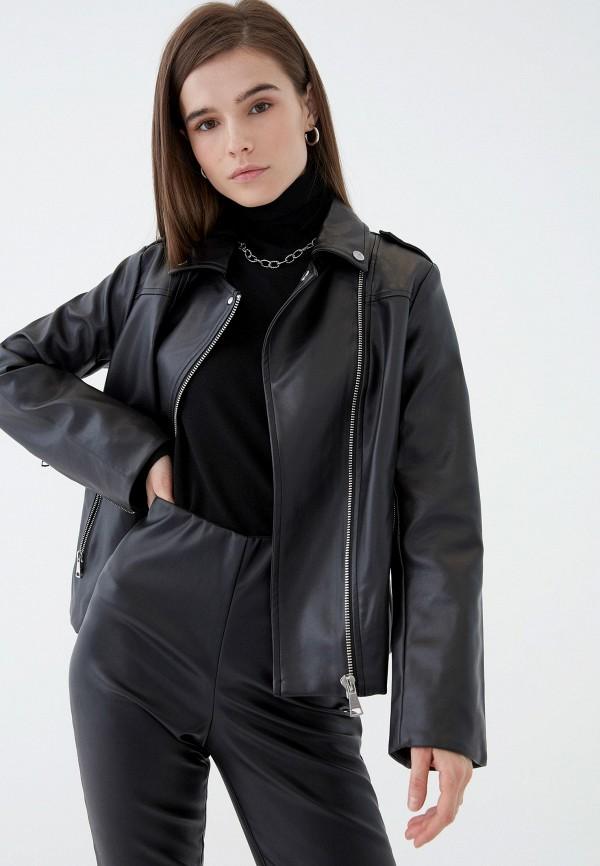 женская куртка косухи zarina, черная