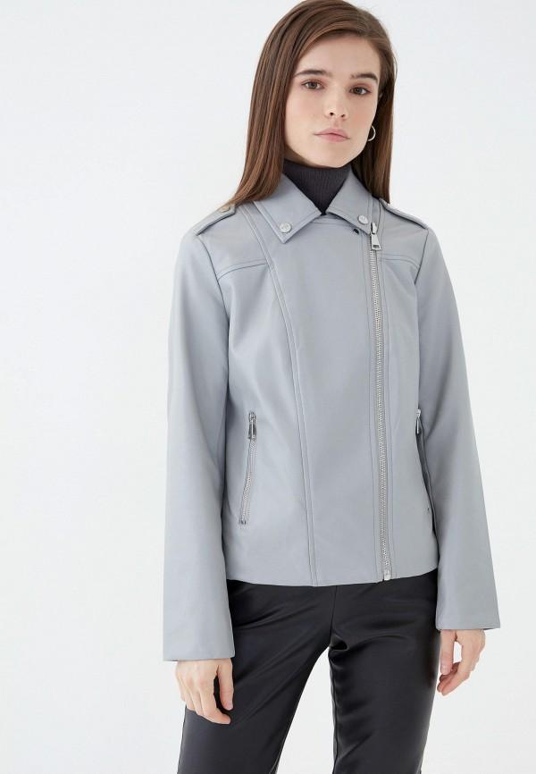 женская куртка косухи zarina, серая