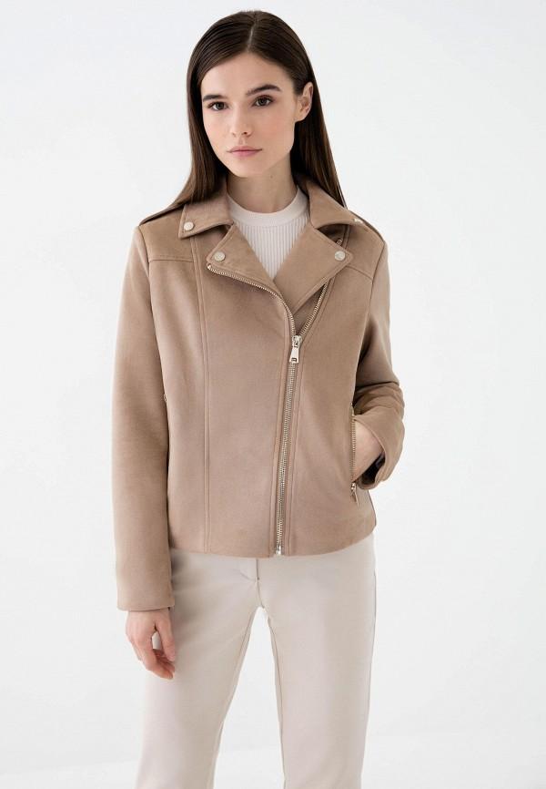 женская куртка косухи zarina, бежевая