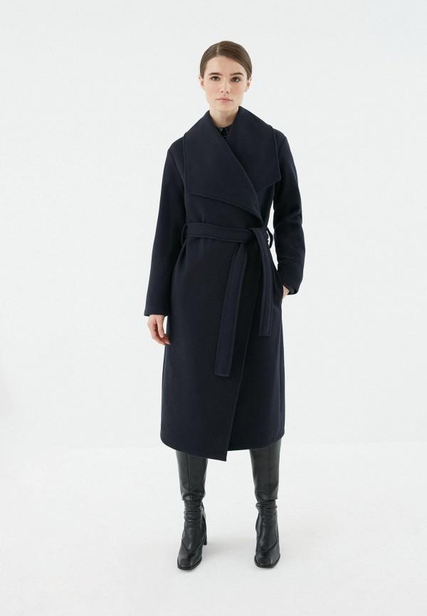женское пальто zarina, синее