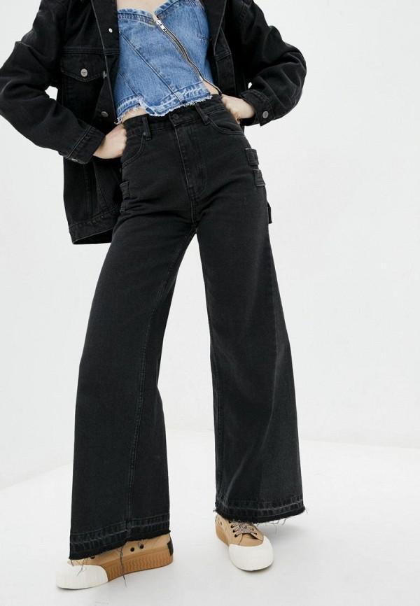 женские джинсы клеш whynotdenim, черные