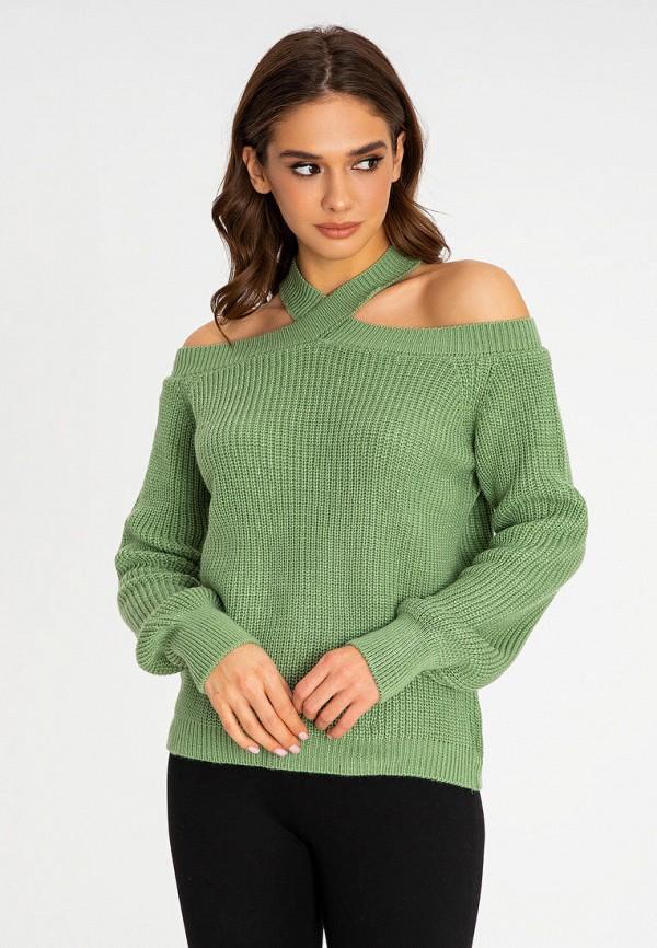 женский джемпер itelle, зеленый