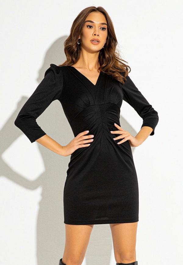 женское платье-футляр itelle, черное