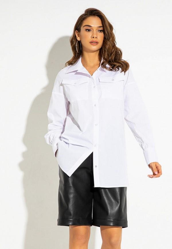 женская рубашка с длинным рукавом itelle, белая