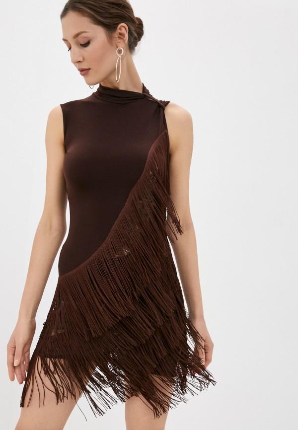 женское повседневные платье altranatura, коричневое