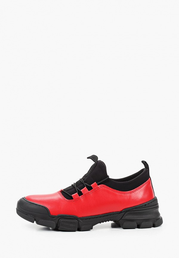 женские низкие кроссовки pierre cardin, красные