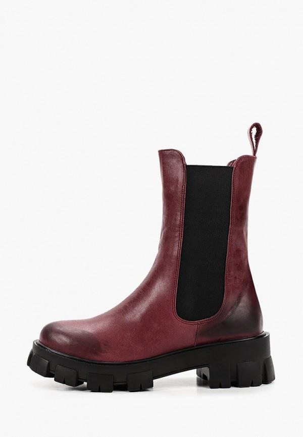 женские ботинки-челси pauli, бордовые