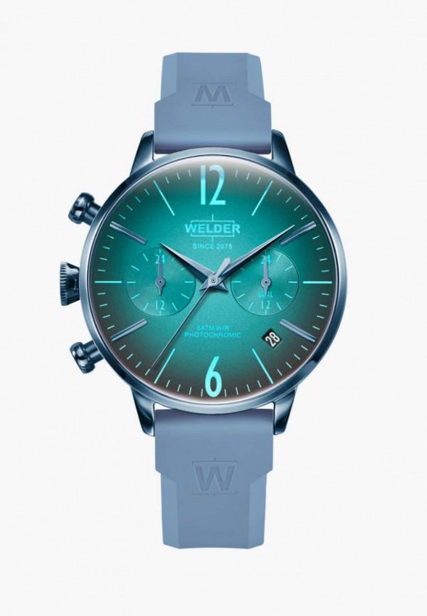 женские часы welder, голубые