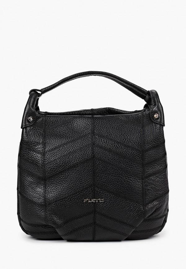 женская сумка с ручками fiato, черная