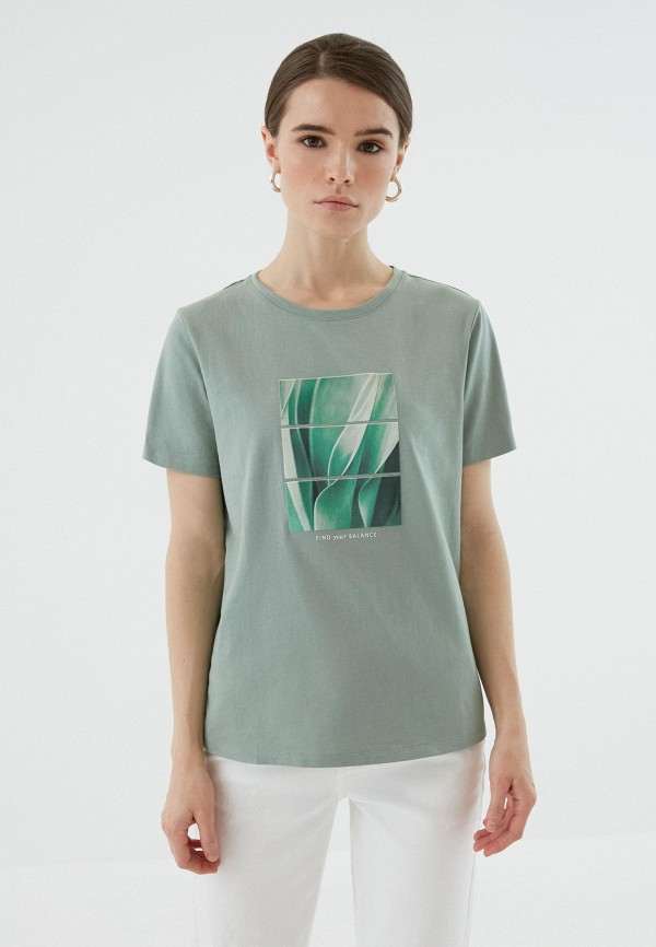 женская футболка zarina, хаки
