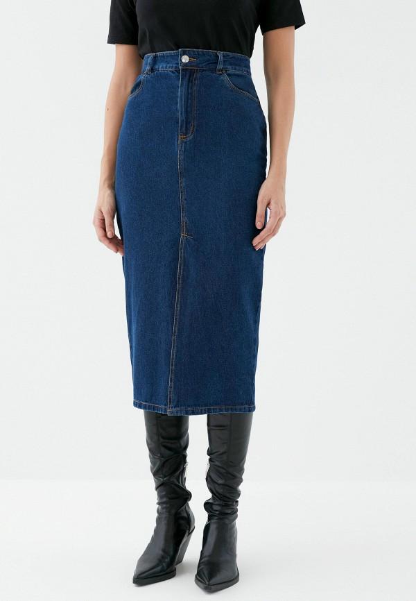 женская джинсовые юбка zarina, синяя