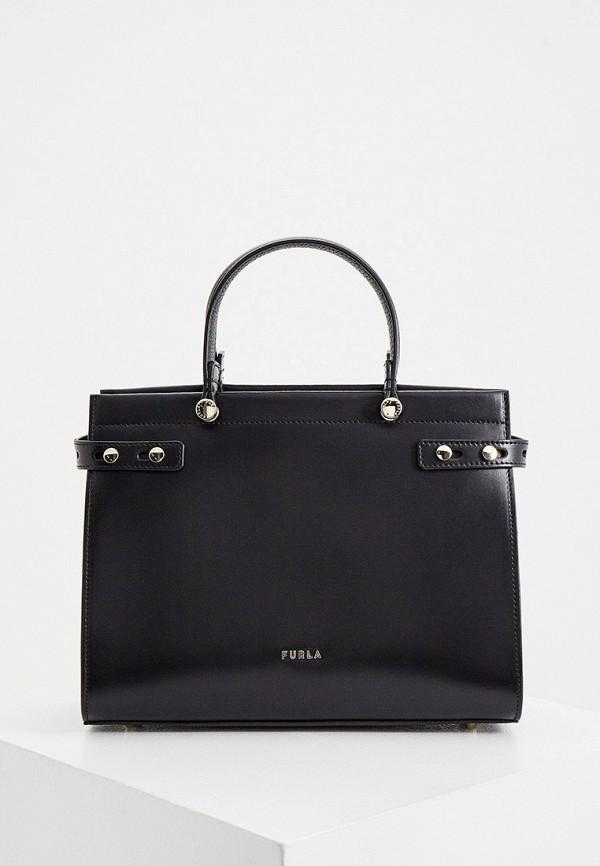 женская сумка-тоут furla, черная